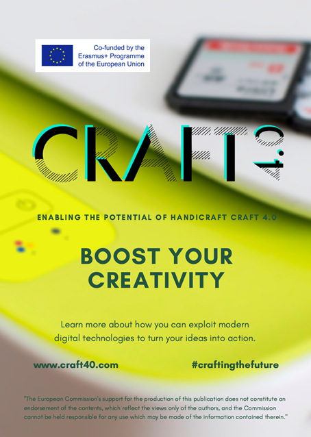 The cover of the Craft 4.0 leaflet